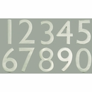 "Satin Nickel 5"" Floating House Number"