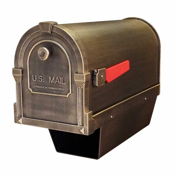 Savannah Curbside Mailbox with Paper Tube