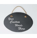 Custom Slate Sign Personalized With Your Own Message - Hang on Post or Wall Mount