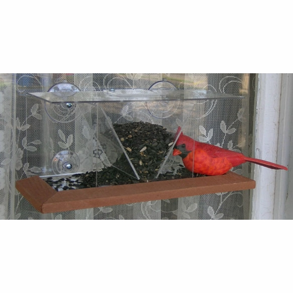 See Through Window Bird Feeder With Suction Cups
