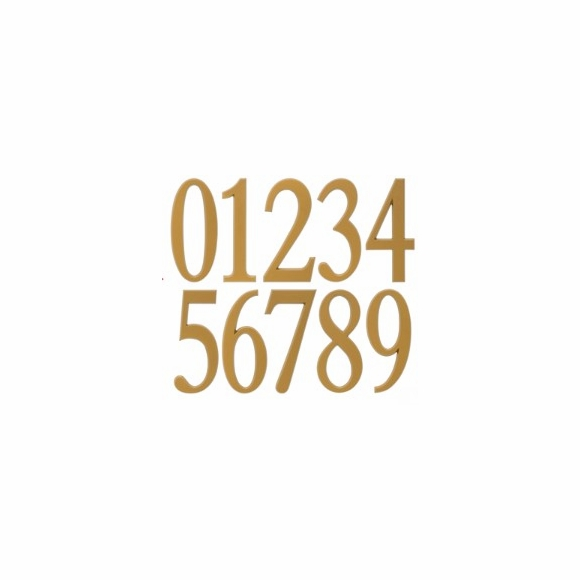 Self Stick Steel House Numbers in Gold or Silver