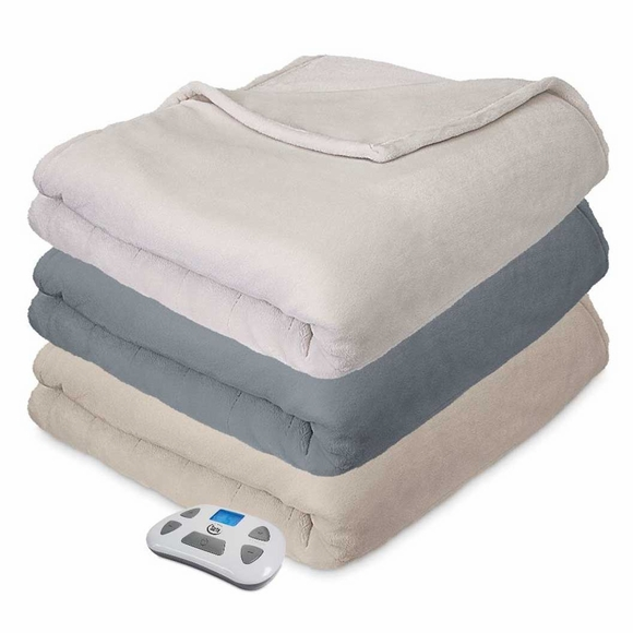 Serta Comfort Plush Heated Electric Blanket with Programmable Controller