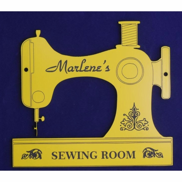 Sewing Machine Sign - Decoration For Sewing Room Door, Wall, or Case