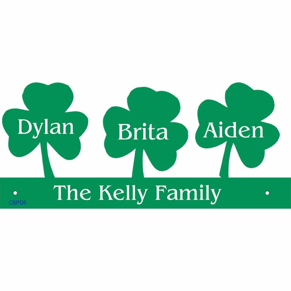 Shamrock Silhouette Personalized Wall Art