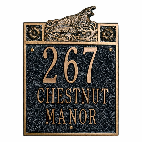 Sheffield Quail Personalized Address Plaque