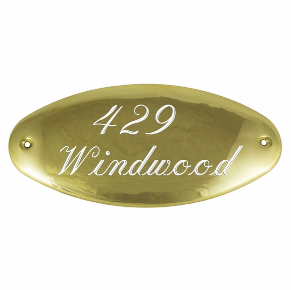 Small Brass Address Plaque