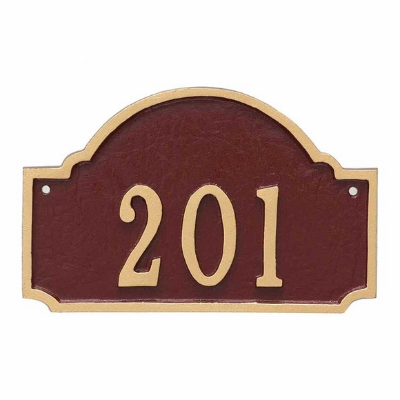 Small House Number Plate - Custom Address Sign