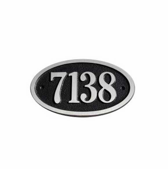 Small Oval House Number Sign