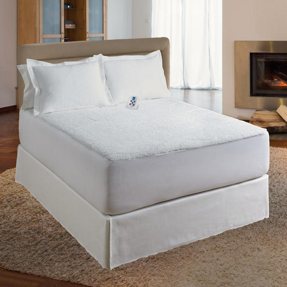 Softheat electric mattress pad : Serta Sherpa plush low voltage heated mattress pad