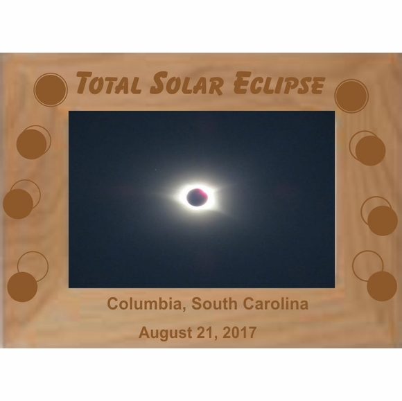 Solar Eclipse Photo Frame - Horizontal