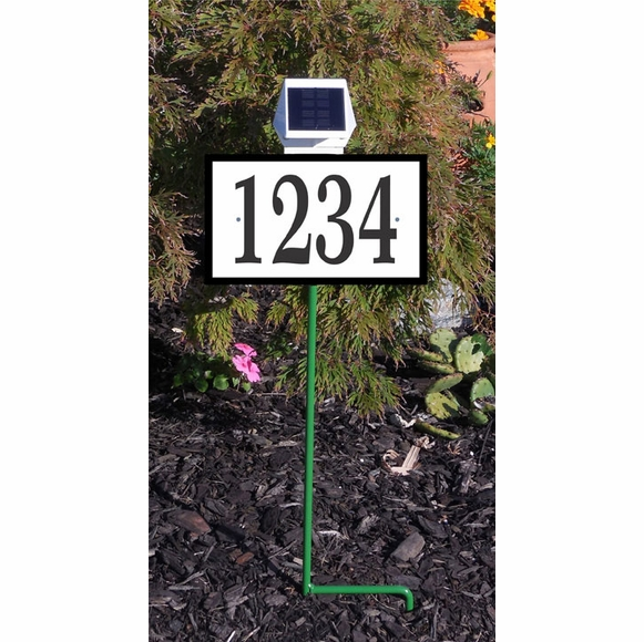 Solar Illuminated Lawn Mount Address Sign