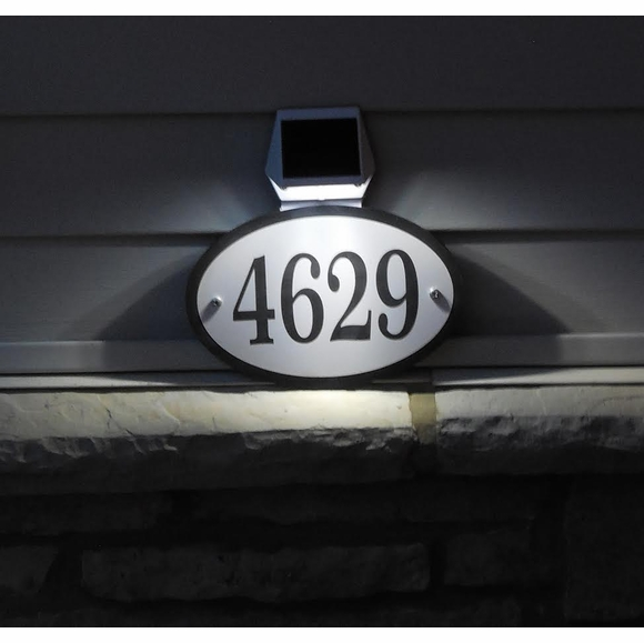 Solar Light House Number Sign