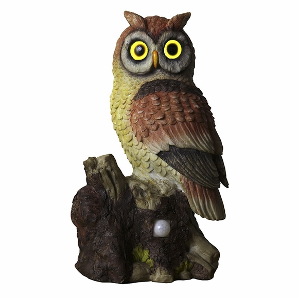 Solar Powered Hoot Owl Decoy