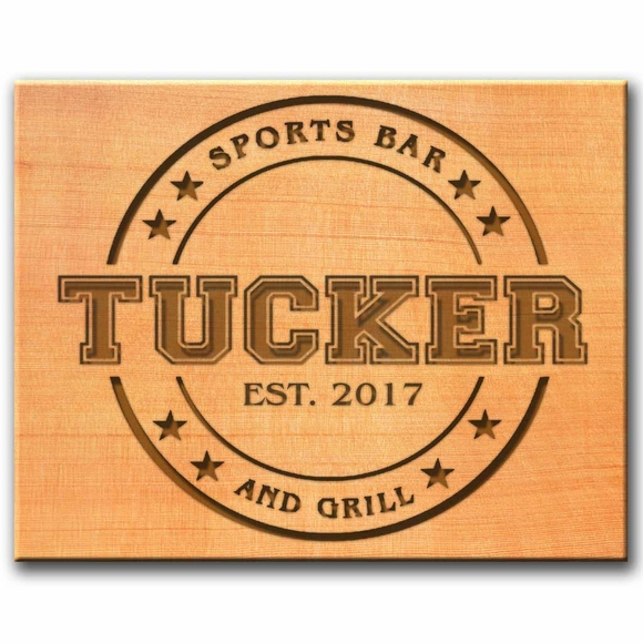 Sports Bar & Grill Wall Sign with Your Name