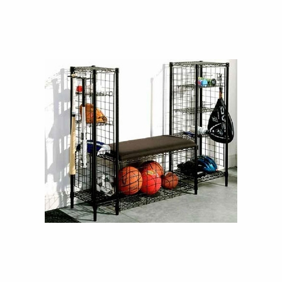 Sports Bench with Storage Towers