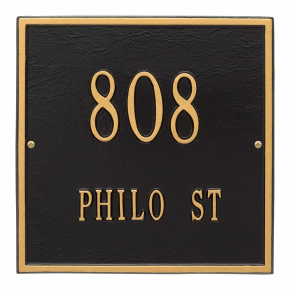 Square Address Sign 2 Line Address 11x11