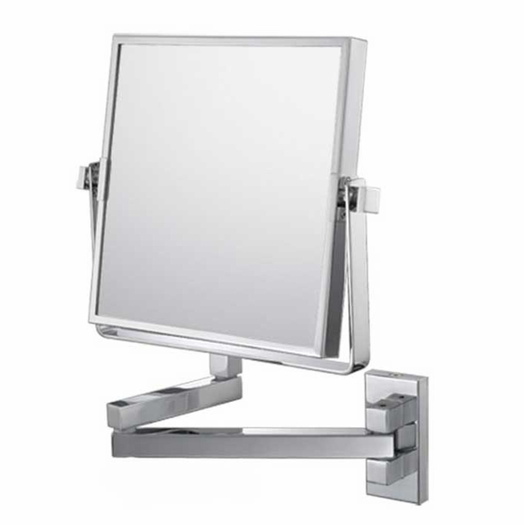 Square Wall Mounted Magnification Mirror