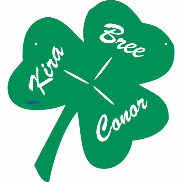 Personalized Shamrock Wall Plaque