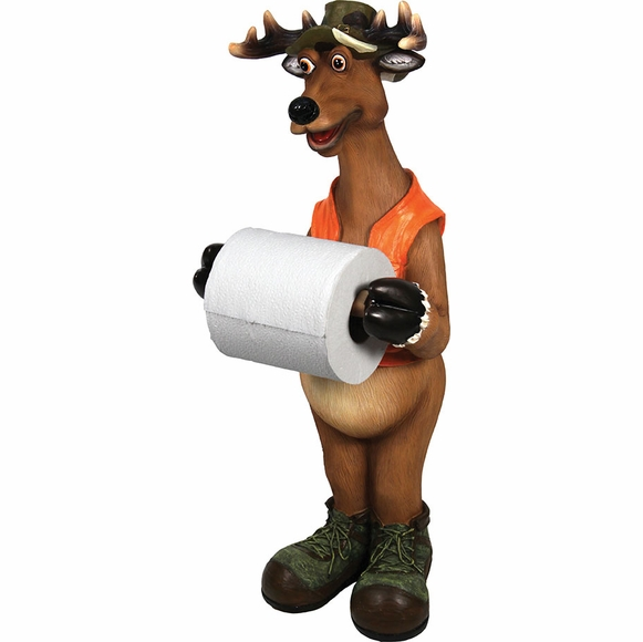 Standing Deer Toilet Paper Holder
