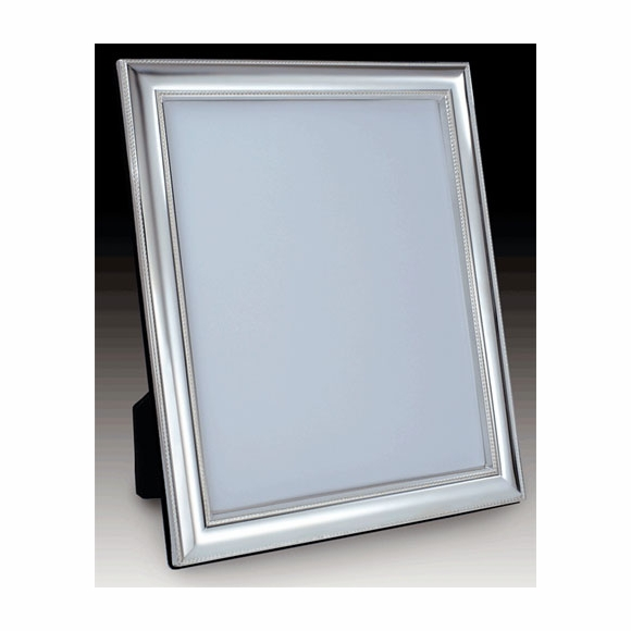Sterling Silver Picture Frame Mirror For Table or Vanity