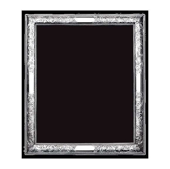 Sterling Silver Picture Frame With Scroll Border - For 4x6, 5x7, 8x10, and Round Photos