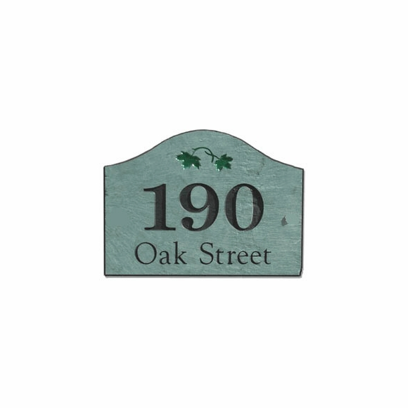 Stone Mill 31407 Slate Home Address Plaque