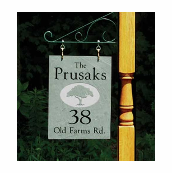 One Sided Hanging Slate Address Sign