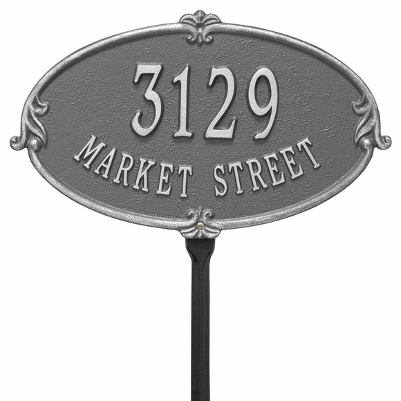 Street Name Address Plaque - Oval House Number Sign
