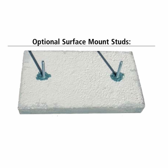 Surface Mount Studs for Concrete Address Block
