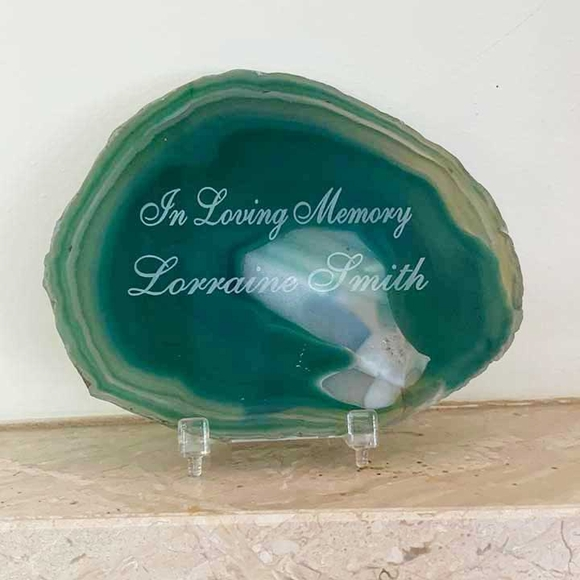 Sympathy Gift Engraved Geode Stone