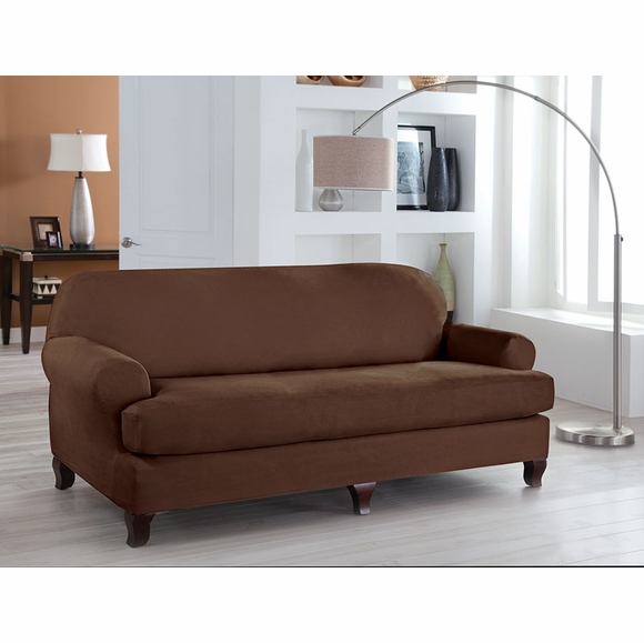 Tailor Fit Stretch Separate Seat T Cushion Sofa Cover