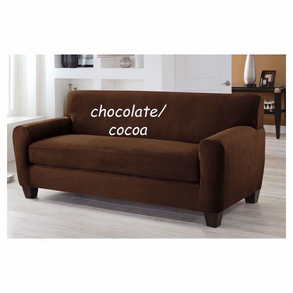 Tailor Fit Two Piece Stretch Box Cushion Sofa Cover