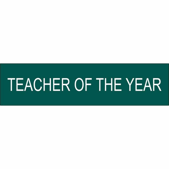 Teacher Of The Year Name Plate