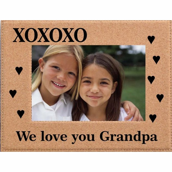 The XOXOXO Personalized Cork Picture Frame Custom Engraved