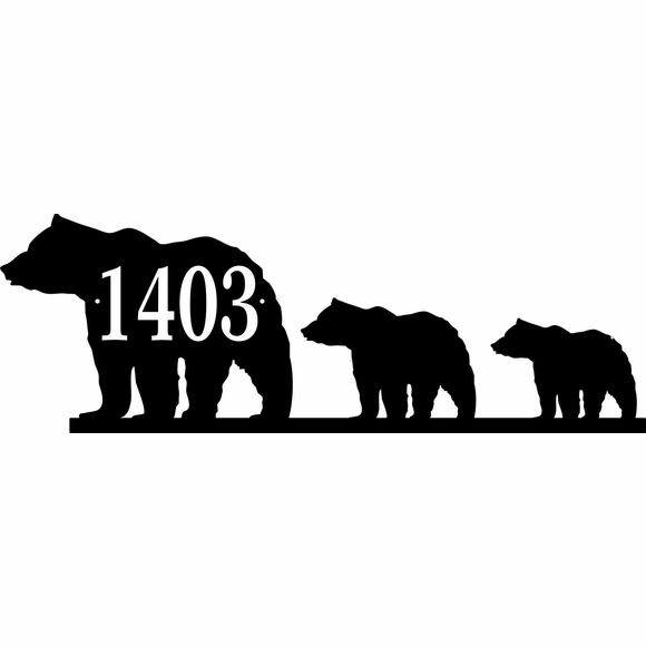 Three Bear Address Sign