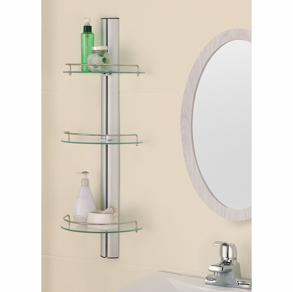 Three Tier Glass Bathroom Shelf