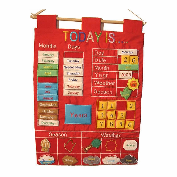 Today Is Wall Calendar for Kids