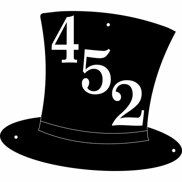 Top Hat Shape Address Plaque