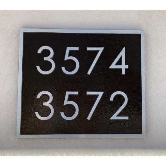 Totally Custom Metal House Number Plaque