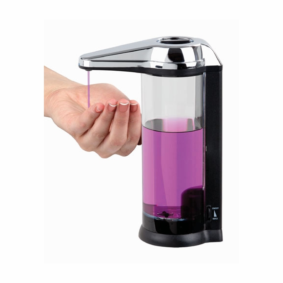 Touchless Soap Dispenser - Wall Mounted or Countertop, Sensor Activated, For Kitchen or Bathroom