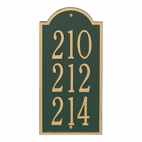 Town House Multi Unit Address Number Sign