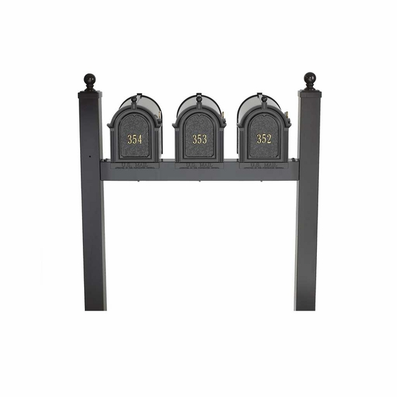 Triple Mount Mailbox Post - Holds Three Mailboxes