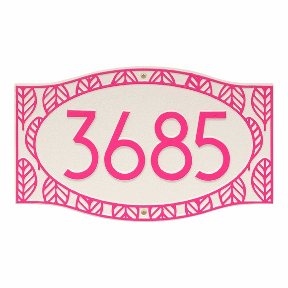 Tropical Style House Number Custom Address Plaque