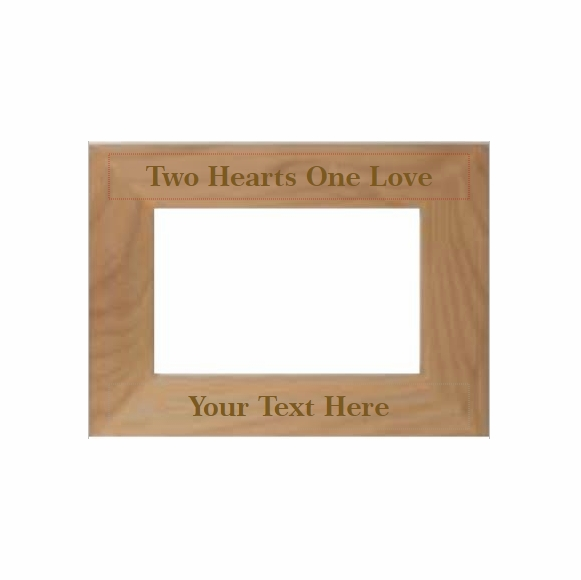 Two Hearts One Love Personalized Picture Frame