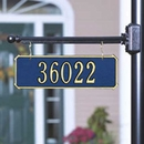 Two Side Personalized Hanging Rectangle Address Plaque