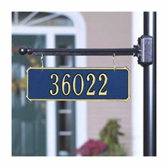 Two Side Personalized Hanging Rectangle Address Plaque - Double Sided House Number or Business Name Sign