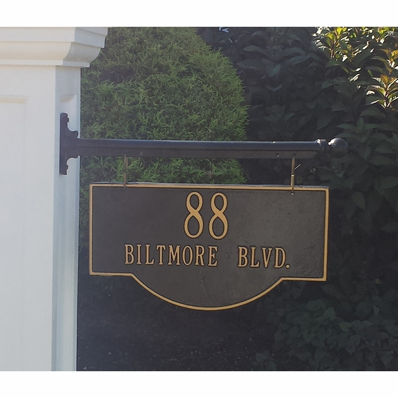 Two Sided Hanging Address Sign