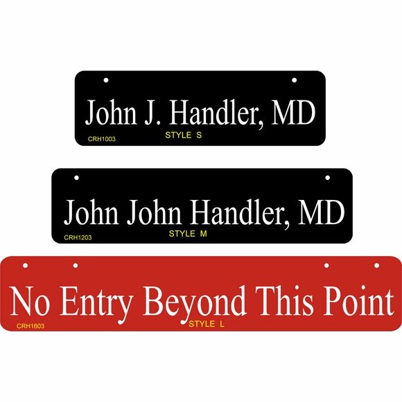 Two Sided Narrow Horizontal Hanging Sign