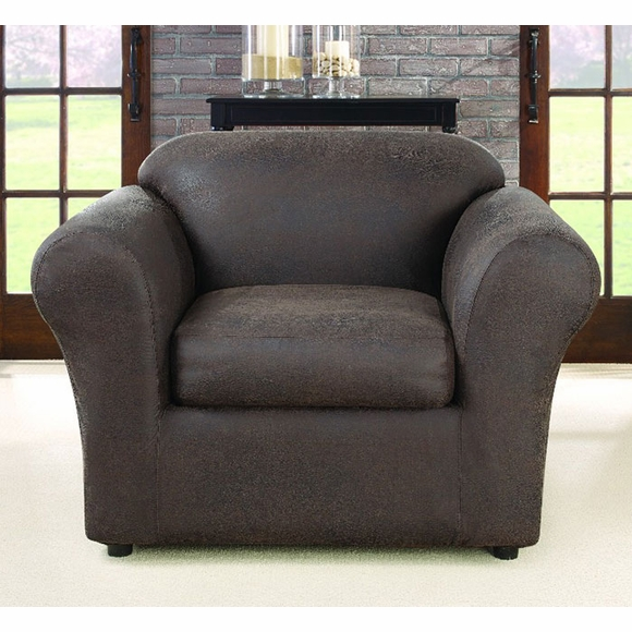 Ultimate Stretch Faux Leather Chair Cover