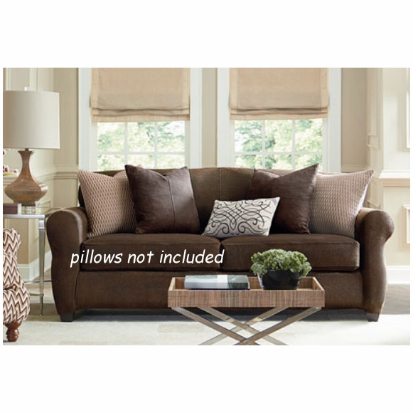 Ultimate Stretch Faux Leather Loveseat Cover